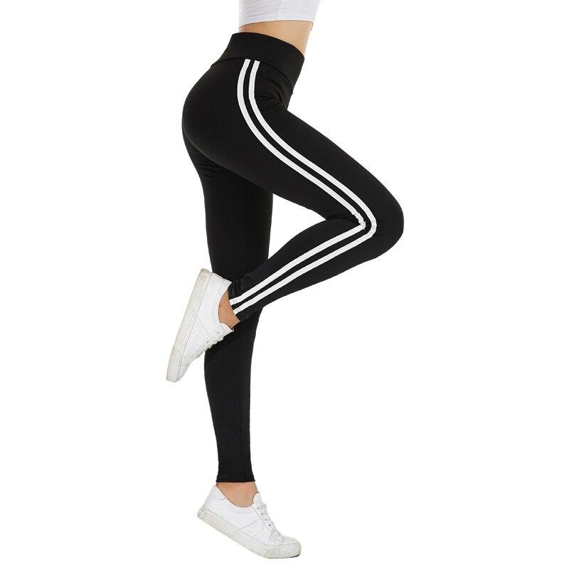 Glam City Joggers Women White Stripe Side Trim  Korean Gym Workout Pant Pantalones Mujer Trousers Women Gothic