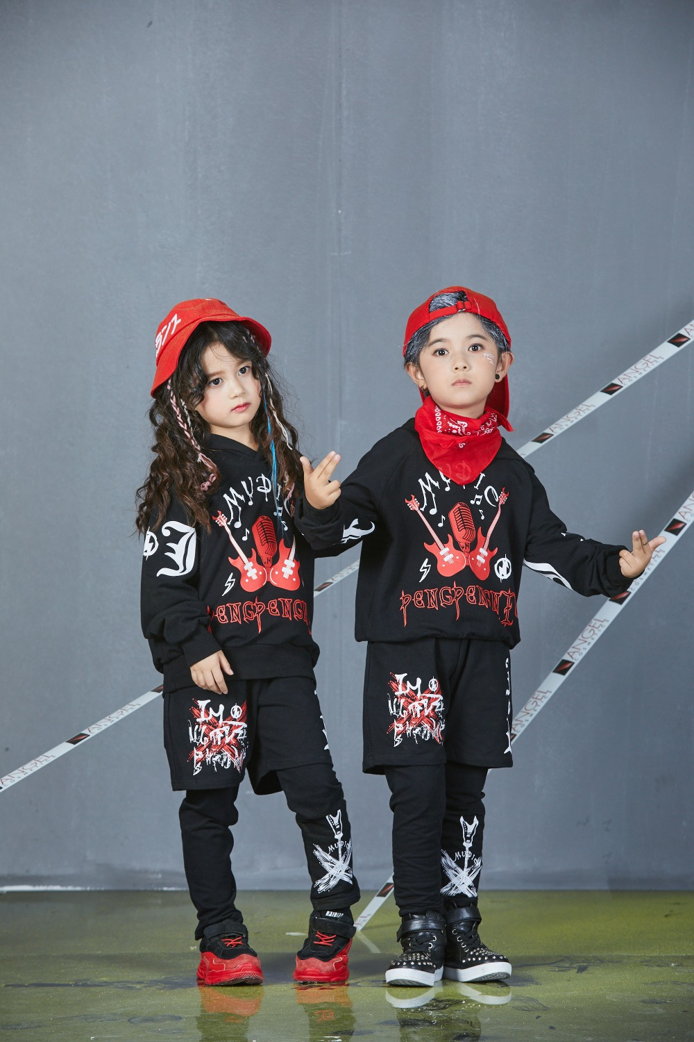 Autumn Spring Kids Street Dance Clothes Sets Fashion Hip Hop Clothing 2019 Brand High Quality Sport Suit for Teenage Boys Girl (21)