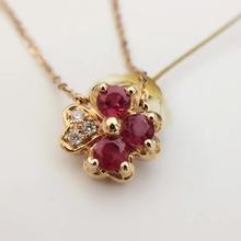 0.665ct+0.035ct 18K Gold Natural Ruby and Pendant Necklace Diamond inlaid 2016 Factory Direct New Arrival Fine Jewelry