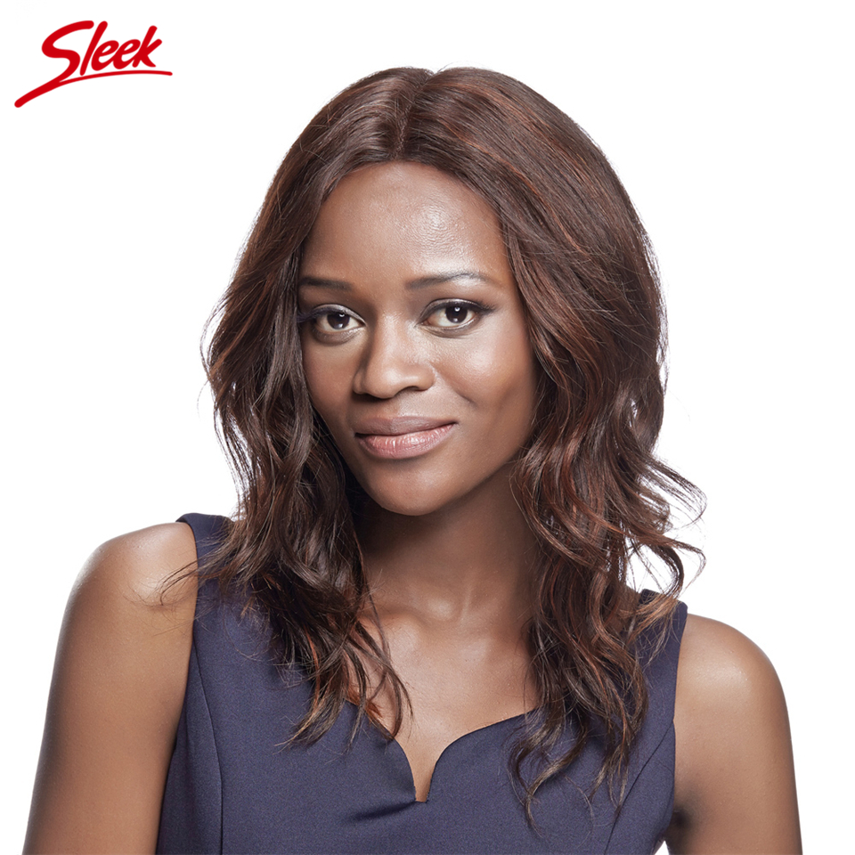 Sleek Ali Buy Frosted Lace Front Human Hair Wigs Brazilian Virgin Hair Body Wave U Part Human Hair Lace Front Wigs Black Women
