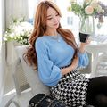 dabuwawa 2016 fashion casual cute slash neck lantern sleeve sweater women
