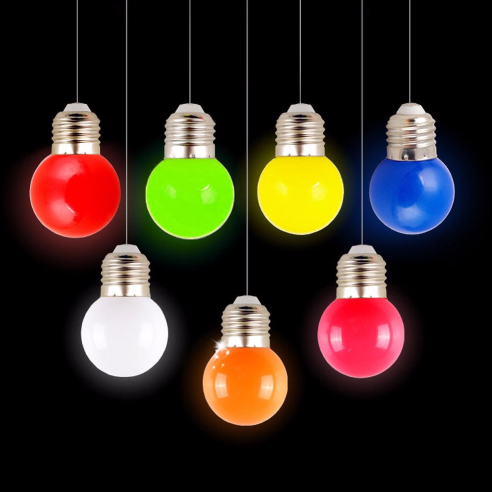 1W E27 Mini LED Golf Ball Bulb Globe Light In Blue, Red, Green, Yellow,White Popular