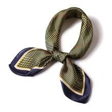 Designer brand women scarf 2019 summer silk scarves square shawls kerchief neck head hijabs 70*70cm