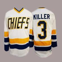 936b459c8 Charlestown Chiefs 3 Dave Killer 1 Denis Lemieux 7 Reggie Dunlop Hockey  Jersey Stitched Men s Ice