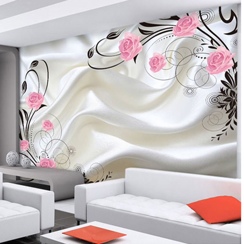 Buy customized size modern design non for 3d wallpaper of bedroom