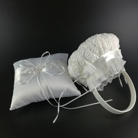 Wedding Basket for Flower Girls Flower Girl Basket and Ring Pillow Set for Wedding Decoration Event Party Supplies Hot Sale