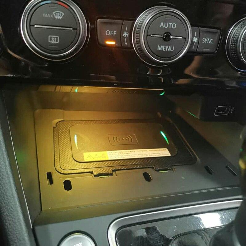 10W auto QI wireless charging handy-ladegerät drahtlose mobile ladegerät auto zubehör für VW T-roc Teramont Phideon für Jetta 2019