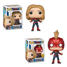 FUNKO POP New Arrival Avengers 4: Endgame CAPTAIN MARVEL PVC Action Figure Collectible Model Toys for Children Christmas Gift(China)