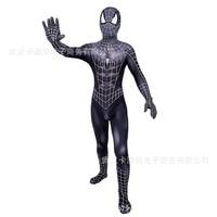 Black Spider Man Costume Adult Spandex 3d Kids Adulto Halloween Mask Custom Amazing Zentai Spiderman Suit Cosplay Civil War