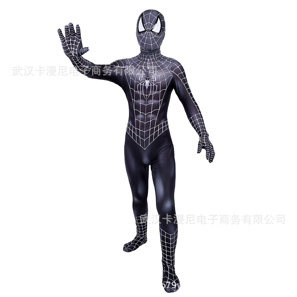 Black Spider Man Costume Adult Spandex 3d Kids Adulto Halloween Mask Custom Amazing Zentai Spiderman Suit Cosplay Civil War