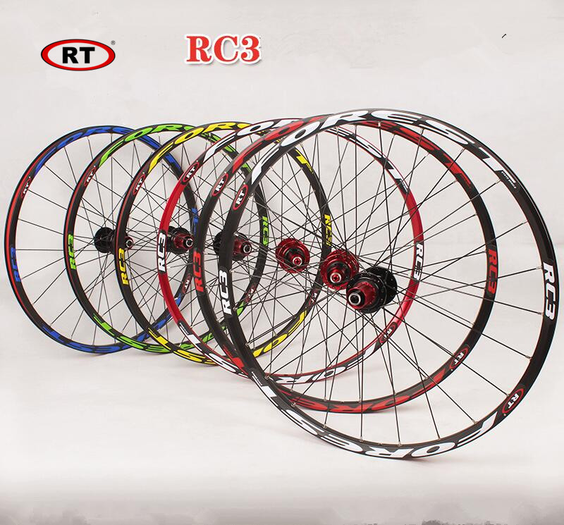 2016 RC3 26inch mountain bike bicycle front 2 rear <font><b>5</b></font> bearing japan hub super smooth flat <font><b>spokes</b></font> <font><b>wheel</b></font> wheelset 27.5inch image