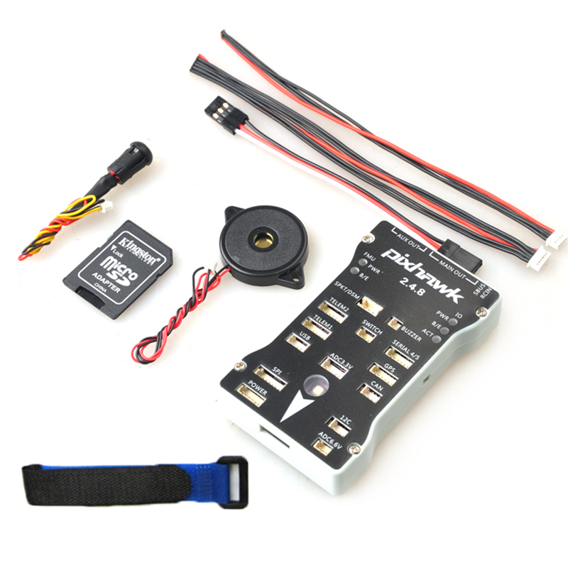 Pixhawk PX4 Autopilot PIX 2.4.8 Flight Controller 32 Bit ARM PX4FMU PX4IO Combo With Safety Switch and Buzzer for FPV Quad Drone f16949 diy fpv rc drone multicopter quadcopter micro pix 32 bit arm flight controller pxi px4 pix 2 4 6 upgraded mini board