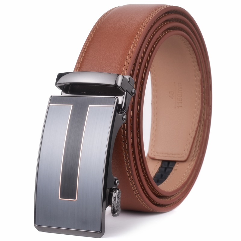 Men's Belts Plyesxale Top Cow Genuine Leather Belt Men Automatic Buckle Mens Belts Luxury Waist Strap Casual Waistband Ceinture Homme B15
