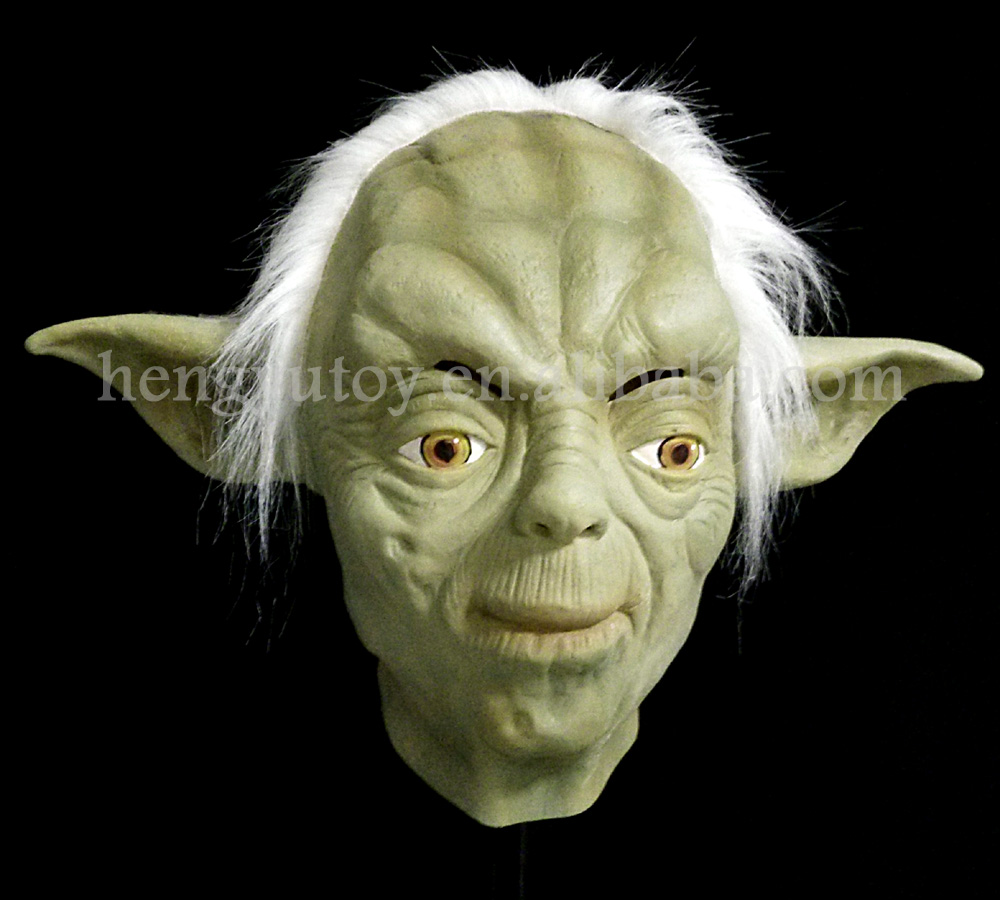 Halloween Party Cosplay Mask Star Wars JedtI Yoda Costume War Jedi Master Animation Movie Toy