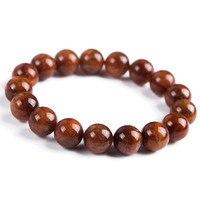 Genuine Natural Brazil Copper Hair Rutilated Quartz Crystal Round Beads Healing Bracelets 12mm