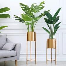 Напольная ваза золотая металлическая полка ваза для сушеных цветов горшки кашпо центральные лобби дома деко ваза для цветов горячая распродажа