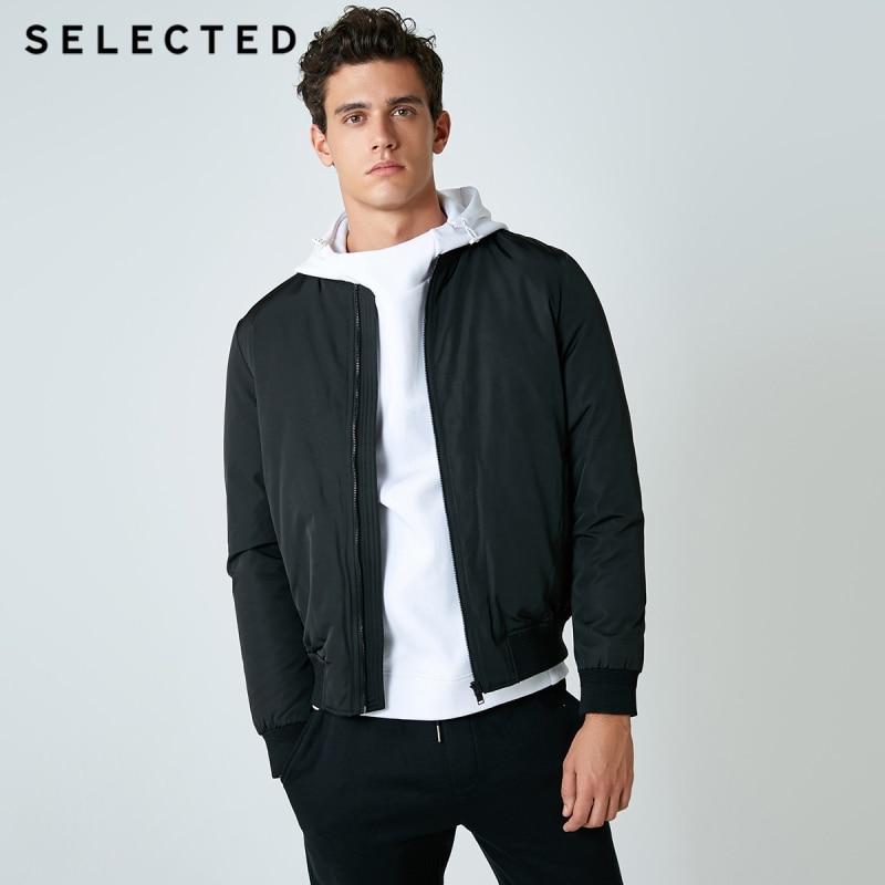Selected 남성 다운 재킷 겨울 야구 칼라 짧은 옷 따뜻한 코트 s  418412505-에서다운 재킷부터 남성 의류 의  그룹 1