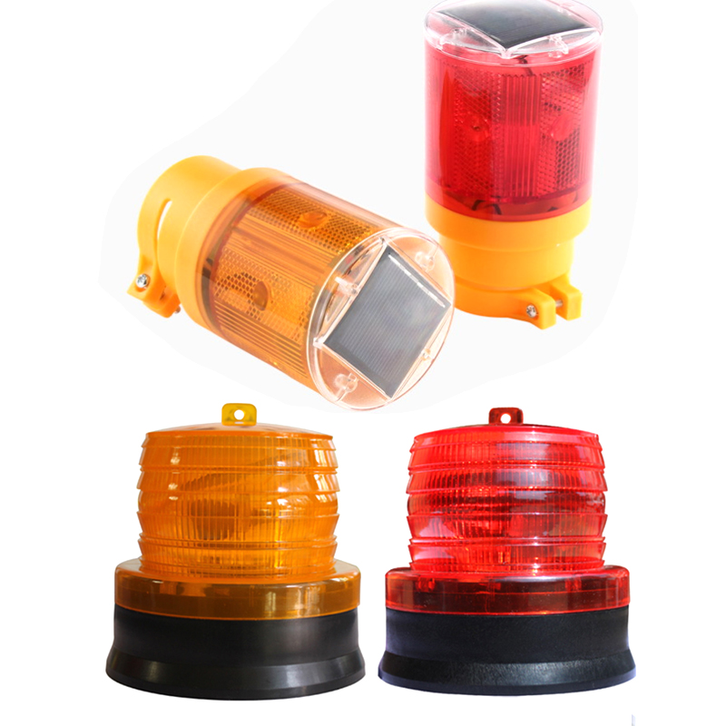 1pcs New Portable LED Solar-Powered Warning Lamp Flash Indicator Light Blinker For Traffic Road Safety Road Emergency Lighting