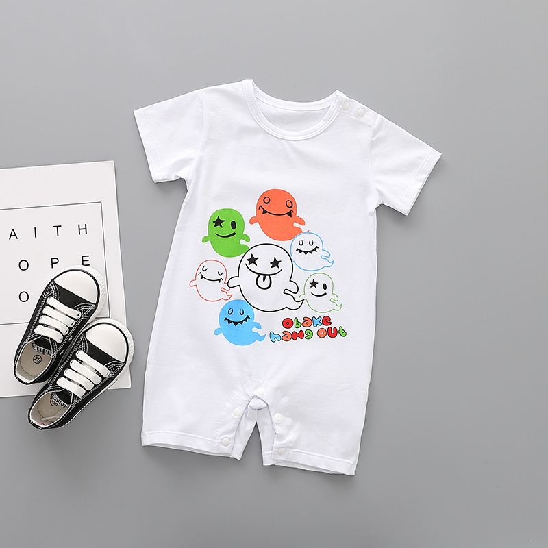 934f0bf92272 New baby rompers Newborn Infant Denim print Baby Boy Lovely Summer clothes  Cute Cartoon Printed Romper Clothes 3 6 9 12 18 Month-in Rompers from  Mother ...