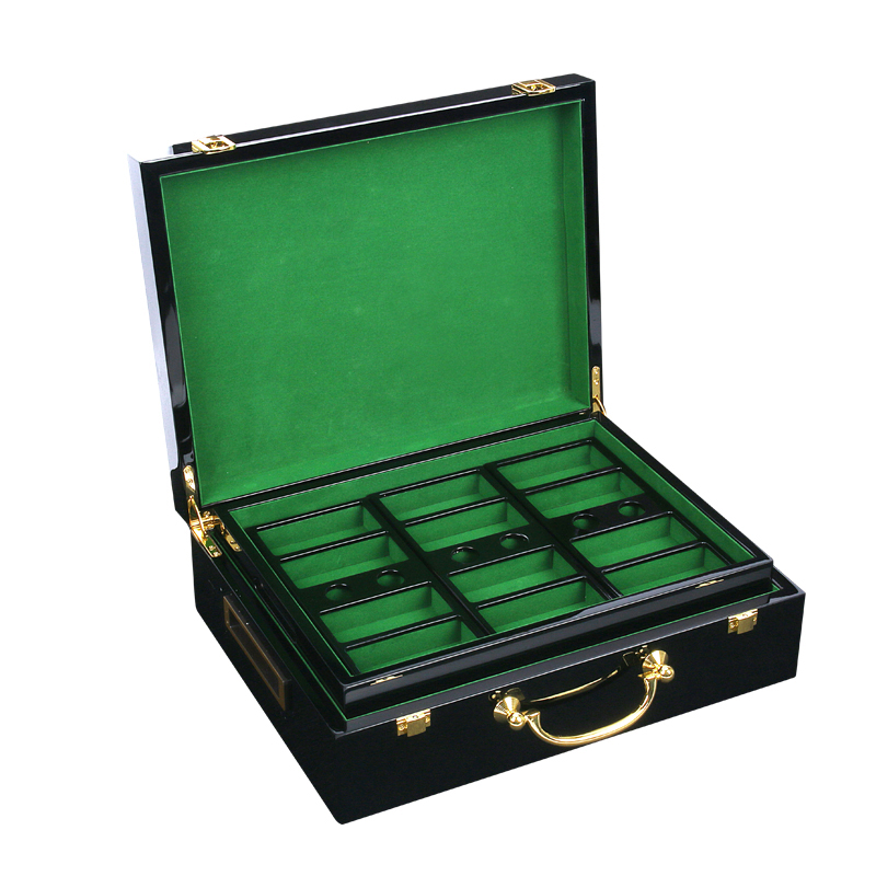Boutique Poker Chips Suitcase Mabogany Wood High Quality 500PCS-Capacity Poker Case Maleta de Poker