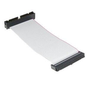 Image 2 - IDE 40 פינים זכר לנקבה כונן קשיח נתונים הארכת כבל סרט שטוח כבל עבור 3.5 inch PATA HDD