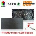 P4 SMD 3in1 крытый из светодиодов жк-модуль 256 * 128 мм 64 * 32 пикселей 1/16 сканирования rgb из светодиодов дисплеев модуль для из светодиодов видеостены