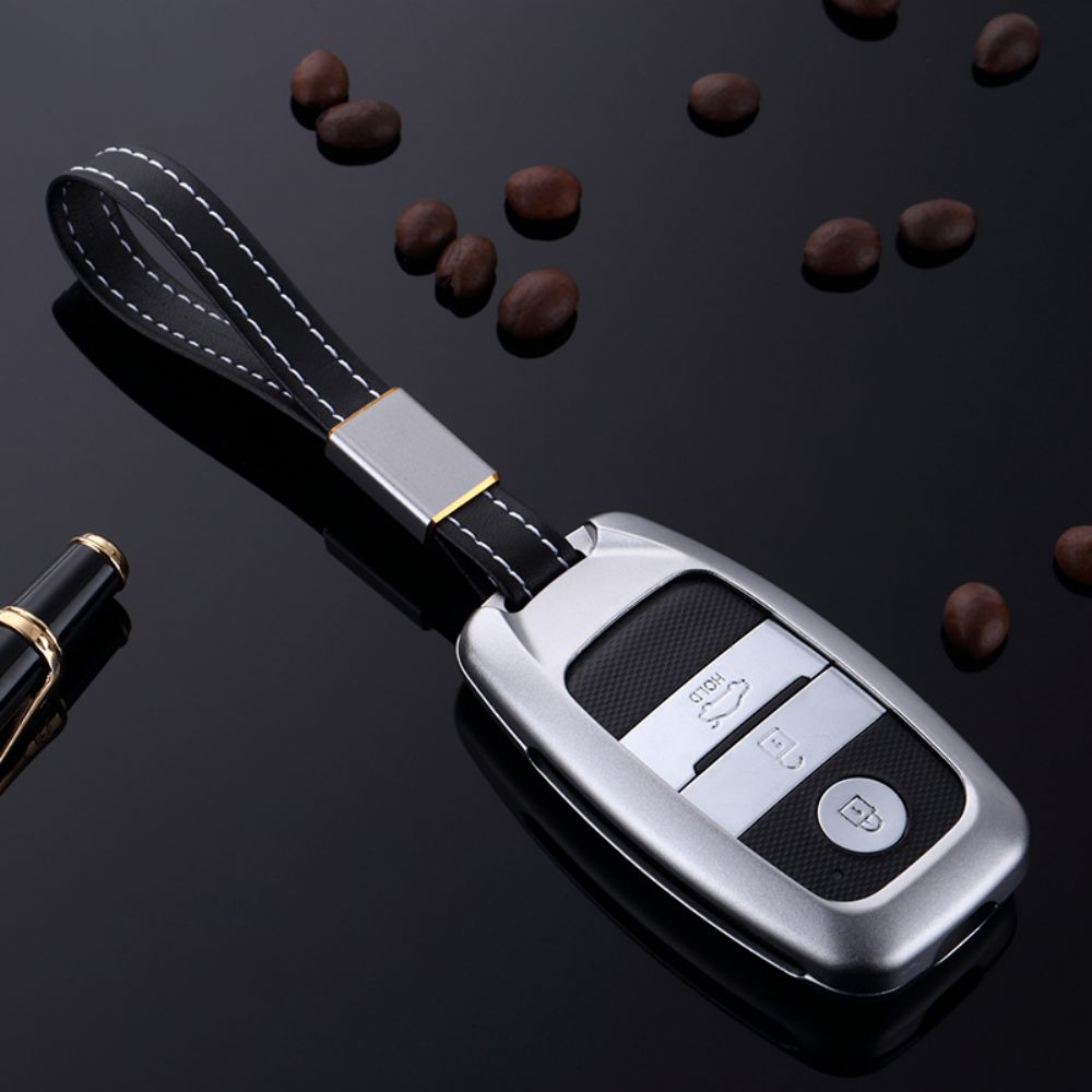 ATOBABI Aluminum Alloy Car Remote Case Key Shell Frame Cover For Kia Cerato K2 K3 K4 K5 Rio Sportage 2016 Ceed Sorento Cerato zinc alloy luminous car remote key case cover for kia rio k2 optima k5 sportage 2017 2018 ceed sorento cerato k3 k4 accessories