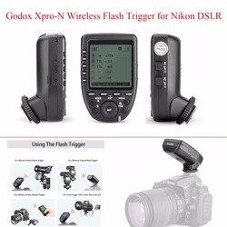 Godox Xpro-N TTL 2.4G Wireless Flash Trigger 1/8000s HSS TTL-Convert-Manual Function with LCD Screen Transmitter for Nikon DSLR