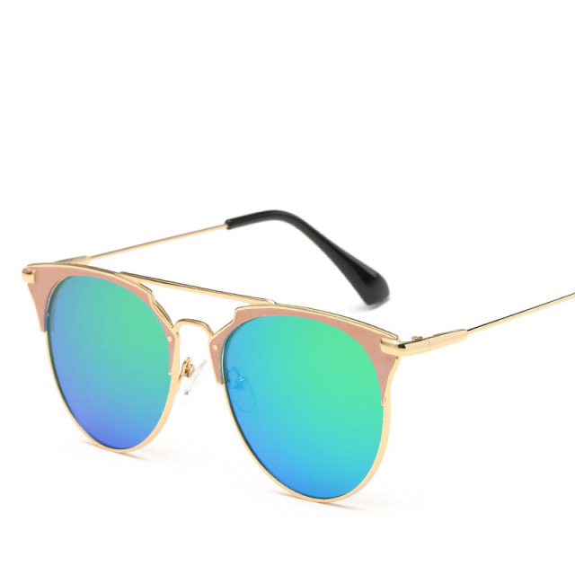 Luxury Vintage Round Sunglasses Women Brand Designer Cat Eye Sunglasses Sun Glasses For Women