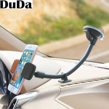 Long Arm Car Phone Holder Stand For iPhone XS MAX XR X Xiaomi 360 Rotate Dashboard