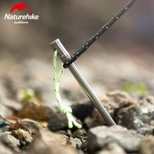 Naturehike 6Pcs Titanium Alloy Tent Peg Nail Outdoor Camping Accessory Ultralight Stake Bend Hook Head NH17D031-D