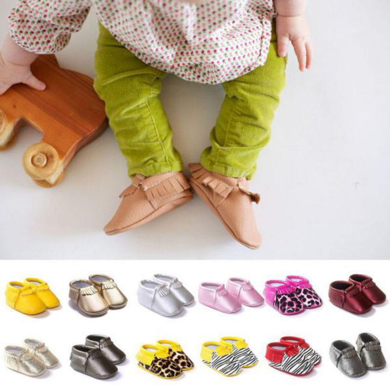 Baby Shoes 29 Colors Princess Toddler Shoes 2018 New Infant Soft Sole PU Leather Shoes Tassels Baby Various Cute Moccasin S2