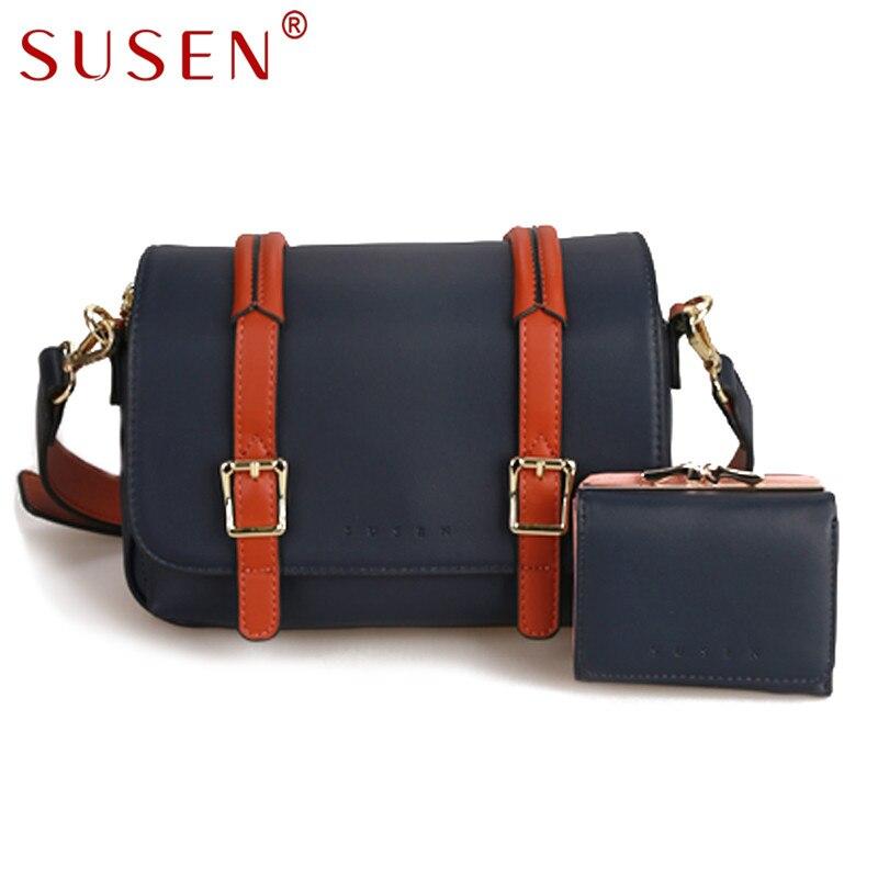SUSEN 0042 Women Shoulder Bag Cross body Bag with Purse 2 pcs font b Set b
