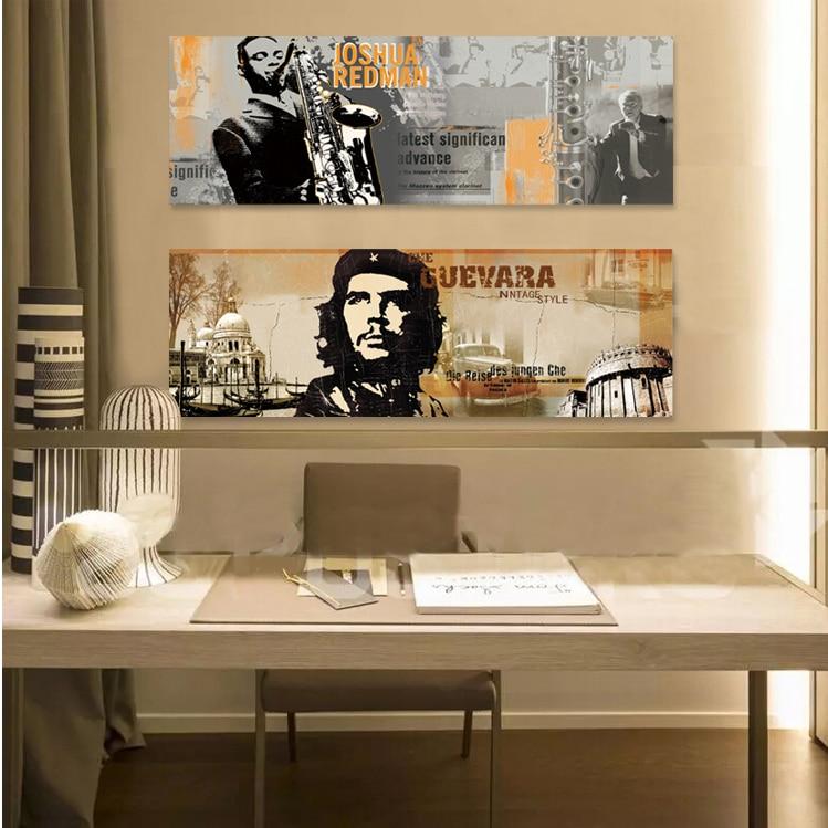 Pop Art Portrait Jazz Saxophone Music Guevara Home Decor Wall Canvas Bar Cafe Bedroom
