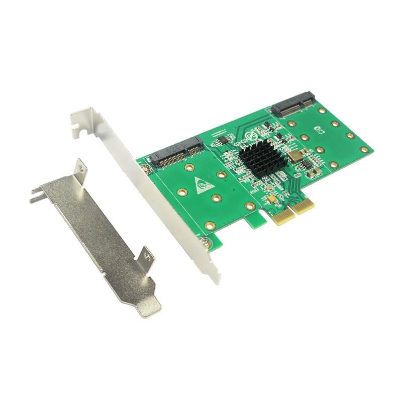 PCI express to 4 mSATA SSD RAID Card RAID0 RAID1 RAID10 Marvell HyperDuo PCI-e flash solutions accelerates databases