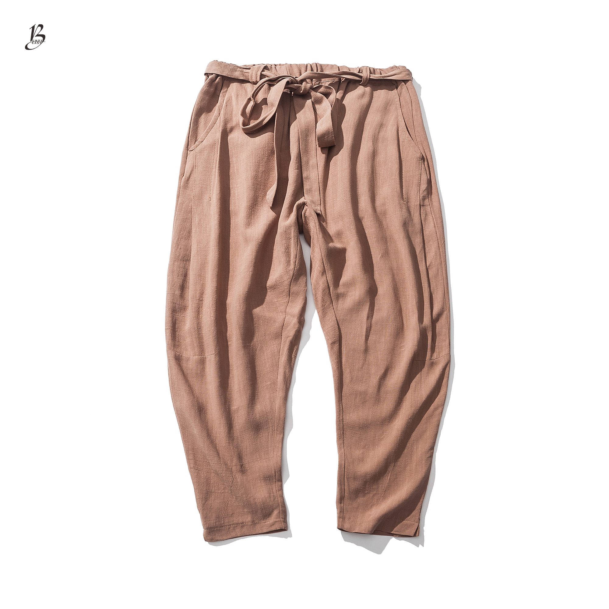 8fd00554df3 Sinicism Store Size Plus 5XL Cotton Linen Harem Pants Men Belt Jogger Pants  Male Trousers Chinese Traditional Cloths Male Trouse