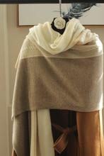 2017 herbst Winter Stolen Frauen Gestrickte Poncho Cape Streifen Übergroßen Strickjacke Decke Lange Schal Schal Kaschmir Pashmina