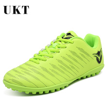 UKT Brand Professional Football Shoes TF Turf Soles Breathable Leather Outdoor Sneakers Men Training Soccer Boots Cleats Shoe