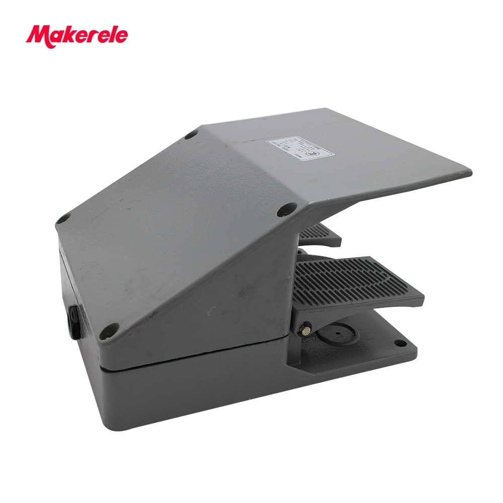 MKYDT1-16 Foot Switch Pedal Foot Control Switch 220/380V 10/15A double pedal use for bending machine punch wholesale price foot control pedal for welding machine
