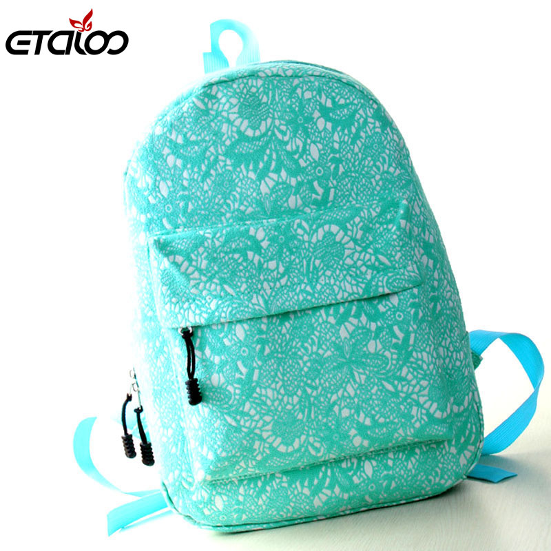 2017 new fashion bag shoulder bag Korean version of the trend lace shoulder bag large capacity bag women backpack