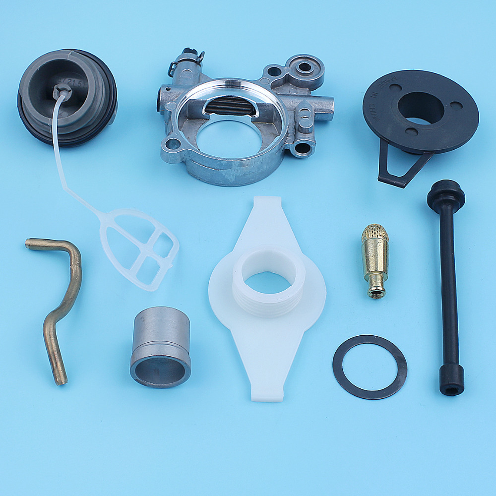 For Husqvarna 372XP 365 371 385 390 362 Chainsaw Parts Oil Pump Line Gear Kit