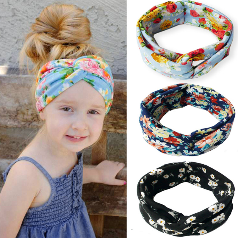 Mum Baby Mother Daughter Parent Child Printing Rabbit Ears Bowknot Headband Cute Hairband Turban Knot Headwear Printed Headband fashion toddler girls baby american flag pattern cute rabbit ears headband