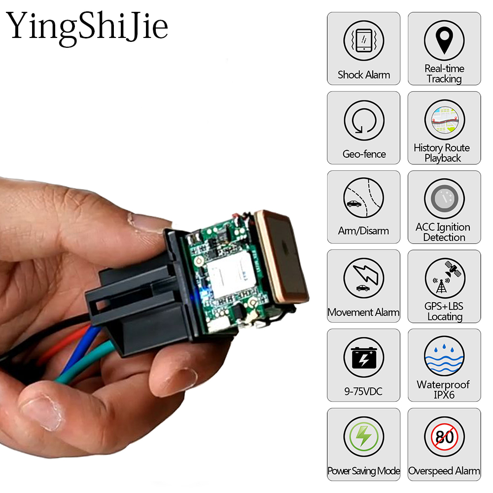 Car Tracking Relay Gps Tracker Device Gsm Locator Remote