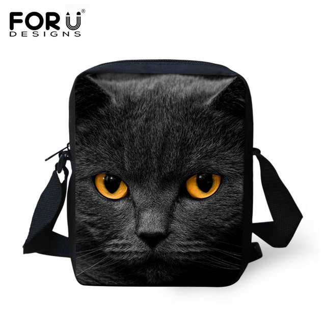 ac99a2f5a79a Fashion Children School Bags Black 3D Animal Cat Printed Schoolbag for Girls  Small Baby Boys Bookbag Kids Mini Mochila Infantil