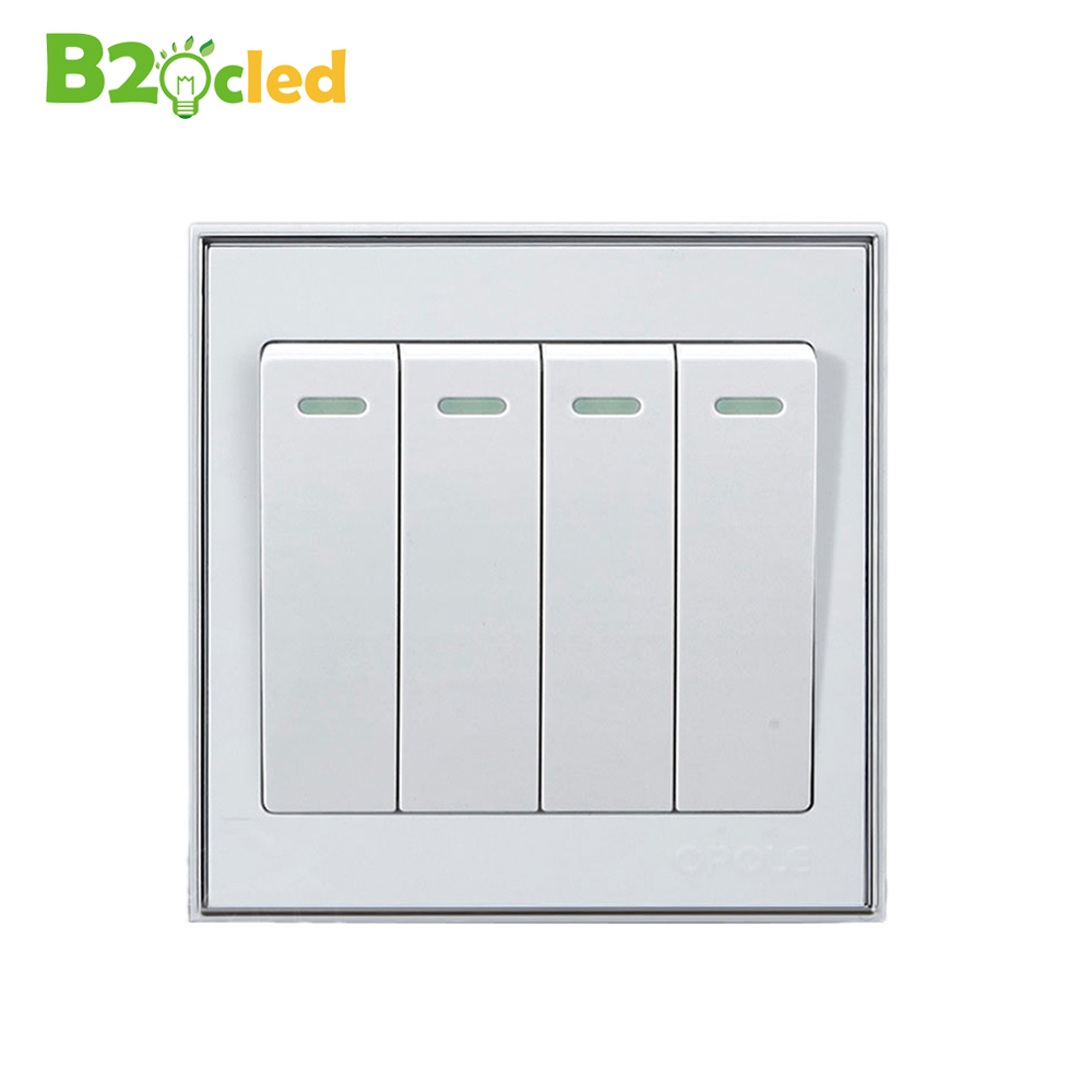 High quality White Wall switch supply four open control switch Home Furnishing lighting switch on /off 4 key power switch 1pc white or green polishing paste wax polishing compounds for high lustre finishing on steels hard metals durale quality