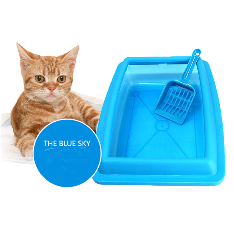 Ocardian Pet Carrier Corner Litter Tray Cat Bedpans Semi Closed Anti-splash Cat Toilet Pet Cat Litter Box*30 Gift Drop Shipping