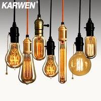 KARWEN-bombilla incandescente retro de 40w, lámpara vintage antigua E27 de 220V para decoración, luces colgantes de filamento