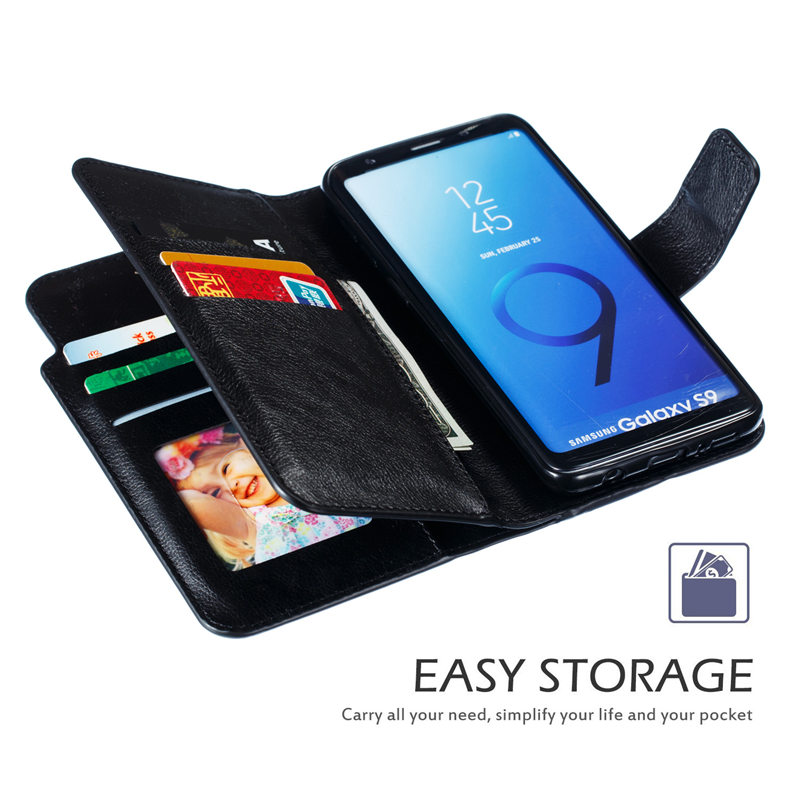 9 Card Wallet Case for Samsung S10 S9 S8 A10e A20e A3 A5 A8 A7 A20s A10 A20 A30 A40 A60 A50 A70 A80 M20 M40 Flip Cover Leather