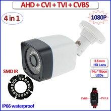 1080P HDCVI HDTVI CVBS AHD camera IP66 surveillance 4 in 1 2MP Night Vision 720P 1MP cctv camera, 3.6mm Lens, bracket, OSD