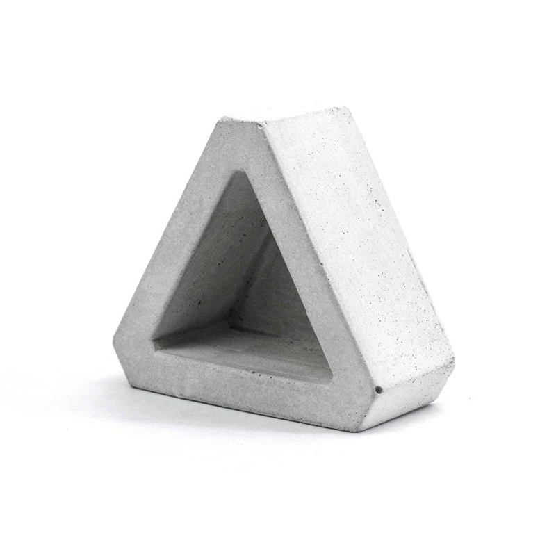Nicole Cement Flowerpot Silicone Mold Triangular Concrete Mould For Succulent Plants Handmade Home Decoration Tool